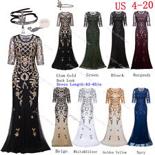 Cocktail Wedding Formal Evening Prom Dresses 1920s Flapper Gatsby Party Dress
