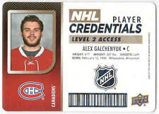 17/18 UD MVP HKY PLAYER CREDENTIALS LEVEL 2 ACCESS CARDS NHL-XX U-Pick From List