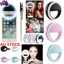 Selfie Portable LED Ring Flash Fill Light Clip Camera For iPhone Android Mobile