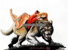 Cavewoman Little Red Riding Hood Signed Print by Budd Root