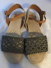NEW Tory Burch Solemar Flat Espadrille Sandal, Olive Royal, Women Size 10 $275
