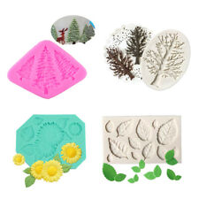 3D Flower Laves Shape Silicone Fondant Mould Chocolate Soap Cake Decorating Mold