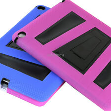 For Apple iPad Air 2 iPad 6 Hybrid Rubberized Dual Layer Stand Hard Cover Case