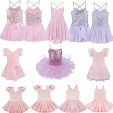Kid Girl Sequined Ballet Gymnastics Sports Tutu Dance Wear Leotard Dress Costume