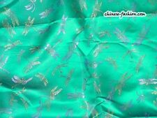 Chinese Silk Brocade Fabric Home Sewing Dragonfly Print