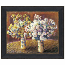 Two Vases of Chrysanthemums, 1888 by Claude Monet Framed Painting Print
