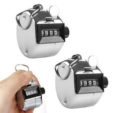 2X Golf Hand Held Tally 4-Digit Number Clicker Sport Counter Counting Recorder