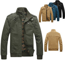 NEW Men's Air Force Military Army Jacket Collar Casual Bomber Coat Outwears Tops