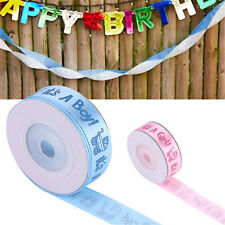 10Yards/Roll Girl Boy Baby Shower Christening Party Favor Gift Stain Ribbon CHIC