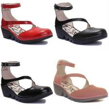 Fly London Plan717Fly Women Red Patent Leather Sandals