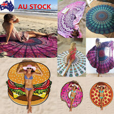 Indian Hippie Floral Mat Beach Scarf Picnic Blanket Round Throw Towel Tapestry