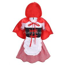 Infant Baby Girls Halloween Party Cosplay Costume Fancy Dress Hooded Cloak New