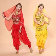 Belly Dance Sexy Bra Top Pants Trousers Outfit Set Halloween Carnival Costumes