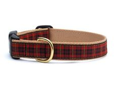 Dog Puppy Design Collar - Up Country - Made In USA - Red Plaid - Choose Size