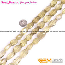 Assort Shape Gemstone Yellow Lemon Stone Beads for Jewelry Making, Size Pick