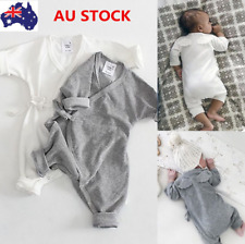 Newborn Infant Baby Girls Boys Long Sleeve Romper Back Wings Jumpsuit Outfits