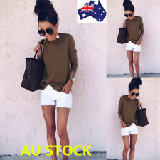 Women Loose Long Sleeve Tops Knitted Sweater Shirt Pullover Jumper Casual Blouse