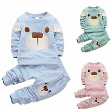 Toddler Baby Kids Boys Girls Cotton T-shirt Tops+Casual Pant Outfit Kids New Set