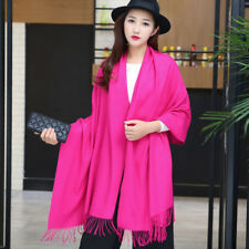 Winter Women Long Scarves Cashmere Cashmere Blend Solid Warm Scarf Shawl Wrap