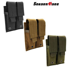 Outdoor Tactical Molle Double Tool Mag Pouch Magazine Pistol Accessary Bag Case