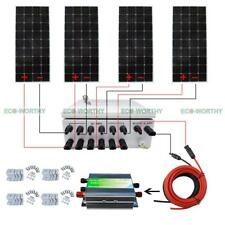 12V Off Grid Solar Panel System + 6 String Combiner Box 100W 160W Solar Panel