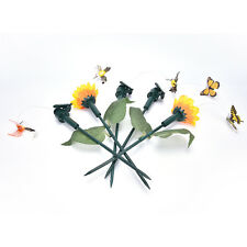 Vibration Solar Power Dancing Flying Fluttering Butterflies Garden Decor Tb