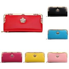 Womens Delicate Crown ID Credit Card Holder Clutch Coin Change Purse Wallet Case