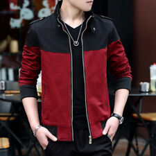 Stylish Mens Slim Fit Jacket Stand Collar Jackets Men Casual Zipper Coats Tops