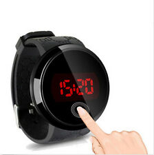 Mens Watch LED Touch Screen Date Silicone Wrist Black Watch Cool Waterproof YS