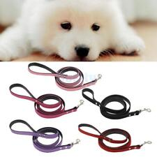 Pet Dog Walking Leash Lead Strap Traction Rope Flocking Leather Firm Comfortable