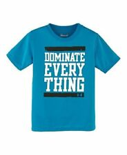 NWT Under Armour Boys' Dominate Everything Graphic Tee Loose Fit Blue Size YSM