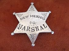 New REPRODUCTION METAL OLD WEST BADGE  Pin NEW MEXICO MARSHAL 6 PT STAR