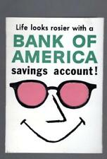 BANK OF AMERICA 1962 Savings Account Lens tissues booklet