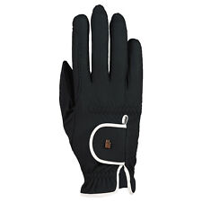 New Roeckl Lona Riding Gloves- Black/White - Various Sizes