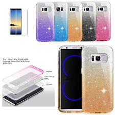 Bling Glitter Silicone TPU Case Cover for Samsung Galaxy S6 S7 Edge S8+ Note 8