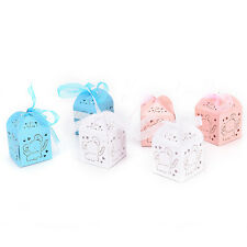 10pcs Elephant Laser Hollow Carriage Favors Box Gifts Candy Boxes Party`Supplies
