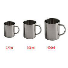 220/300/400ml Stainless Steel Cup With Handle Camping Coffee Mug Double Walled