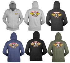 POWELL PERALTA Winged Ripper Zip French Terry Skateboard Hoodie