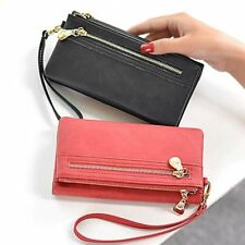 Women PU Leather Large Capacity Wallet Card Phone Holder Coin Purse Handbags HT