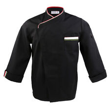 Chef Apparel Unisex Long Sleeve Chef Jacket Catering Food Uniforms Press Button