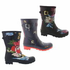 Joules Molly Welly Womens Mid Calf Wellies Wellington Boots Size UK 4-8