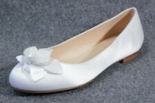 new COLE HAAN Nike Air white satin roses ballet FLATS shoes - wedding bridal