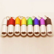 Waterproof Mini Pill Box Case Aluminum Medicine Bottle Holder Container Keychain