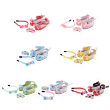 Bow Ankle Strap Shoes+Hairband+Hairpin for 1/6 BJD Doll AOD DOD MSD SOOM Toy