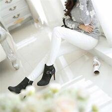 Solid Stretch Long Pencil trousers Slim Fit Skinny Bottoming Leggings Pants HO