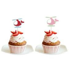 10pcs Helicopter Shape Cake Topper Cupcake Pick Birthday Party Baby Shower Favor
