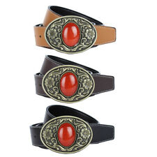 Mens Accessories Western PU Leather Belt luxury Automatic Buckle Cowboy Belt