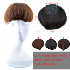 Hot New Natural looking virgin Clip In human hair Extension hair bangs Fringe