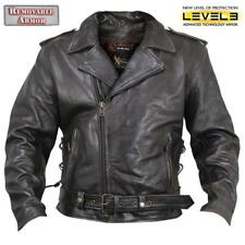 Xelement XS-589 Mens Armored Distressed Leather Classic Biker Jacket - 3X, 4X