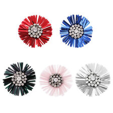 Dandelion Flower Crystal Sequins Patch Sewing Applique Embellishments Decoration